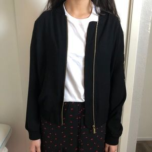 Michael Kores black Jacket with gold detail zipper